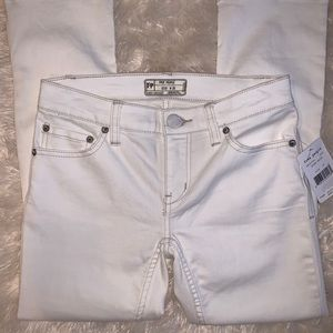 NWT! Free People White Spark Cropped Jeans 25w